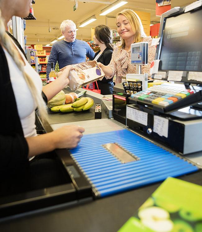 Kassensystem Supermarkt