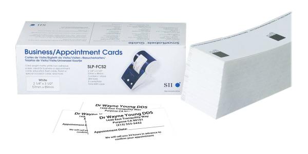 Karten aus nicht-klebendem Papier von Seiko Instruments SLP-FCS2 Weiss
