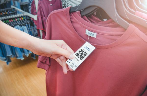 Verwendung von Etiketten fuer Textilien