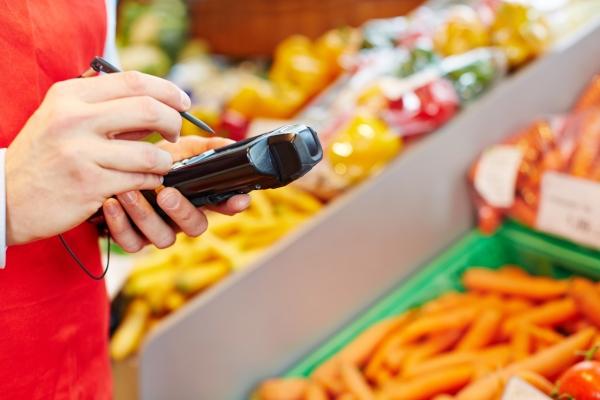 Mobiles Datenerfassungsgeraet im Einzelhandel