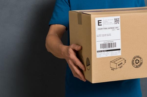 versandfertiges paket